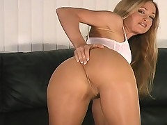 Ass,Blonde,Close-up,Fetish,Masturbation,Nylon,Solo