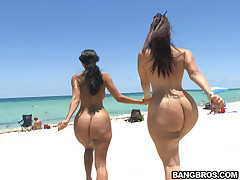 This week on assparade we congregated at the nude beach here in Miami. Joining me on the wild sexual adventure was the super fine Ava Addams and Mega booty Miss Raquel. I must say that it was some great chemistry between the fuckers today. After hitting it off at the beach for a while we headed back to the crib where the ladies showed there real nasty side by sucking and fucking some dick until both these rookies pop the warm white stuff all over the two of them. Good times here on assparade! Don't miss out.