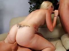 Vaginal Sex;Oral Sex;Blonde;Caucasian;Blowjob;Cum Shot;Threesome;Big Ass;Facial